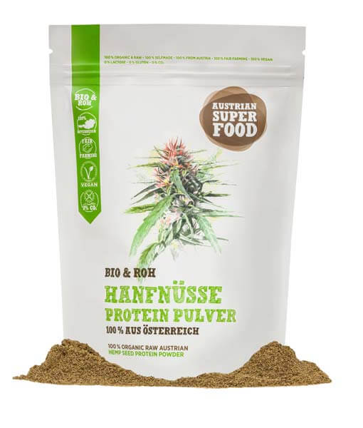 Bio Hanfnuss Protein Pulver Roh