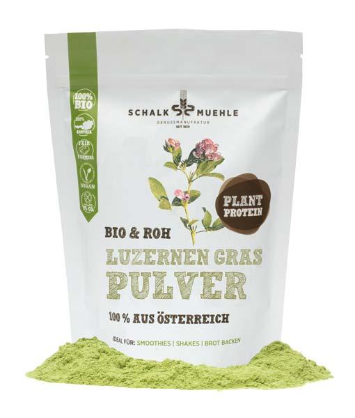 Luzernengras-Pulver