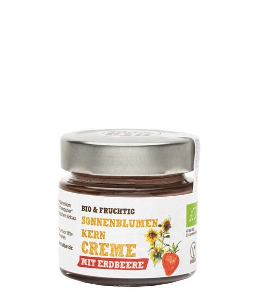 Sonnenblumenkern-Creme-Erdbeere