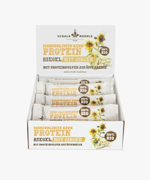 Sonnenblumenkern Protein Riegel mit Ingwer Box