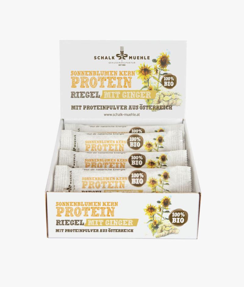Bio Sonnenblumenkern Protein Riegel mit GINGER
